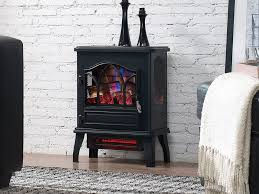 duraflame 3d black infrared electric fireplace stove dfi 470 04