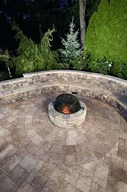 paver fire pit kit outdoor living idea sitting wall and fire pit in color and slate paver fire pit kit