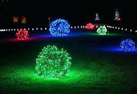 outdoor lighting balls. Christmas Light Balls Outdoor Placed Throughout The  Front Yard Outdoors . Lighting