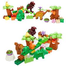 [ 30% Off ] <b>SERMOIDO</b> 40Pcs/Lot Dino Valley Building Blocks Sets ...