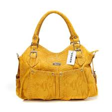 Coach Embossed Medium Yellow Satchels DEW