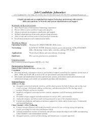 26 Sample Resume For Network Administrator 16 Free Sample Network