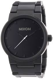 amazon com nixon cannon watch men s all black nixon watches
