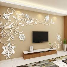 big size feather mirror wall decal home