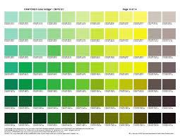 Yellow Cmyk Color Chart Pantone Color Bridge 1 Green Yellow In 2019 Pantone