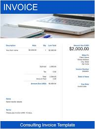 invoice template consulting consulting invoice templates free download send in minutes