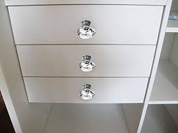 crystal knobs for dressers. ignpion 16x40mm diamond cut clear crystal glass kitchen drawer door knob cupboard pull handle hardware for bedroom furniture, bedside cabinet, dresser unit knobs dressers b