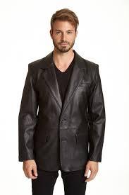 mens classic 2 on lambskin leather blazer zoom