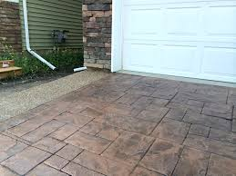 stamped concrete driveway with exposed aggregate borders edmonton