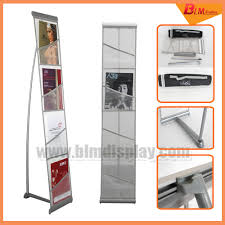 Single Magazine Display Stand Custom A32 Folding Grid Information Frame Promotional Stand Floor Newspaper