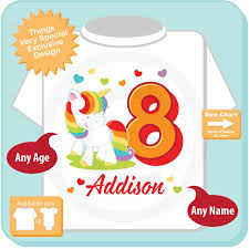 8th Birthday Girl Unicorn Birthday Shirt Personalized