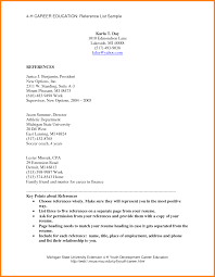 Example Of References On A Resume Tomyumtumweb Com