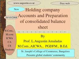Ppt Holding Company Accounts And Preparation Of