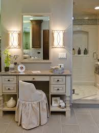 vanity table lighting classic ivory stained wooden make up vanity table with 4 drawers combined with bathroom lighting ideas dress mirror