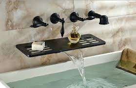 wall mounted waterfall faucets new bathroom plans charming oil rubbed bronze wall mount bathtub faucet on