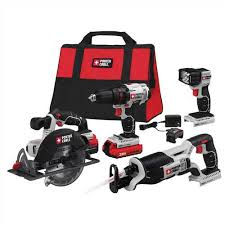 porter cable power tools. porter cable product details for 20v max* lithium ion 4-tool combo kit - model # pcck614l4 power tools