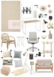 our neutral modern office from all modern  home  living