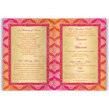 card invitation indian wedding invitation card orange fuchsia gold damask faux