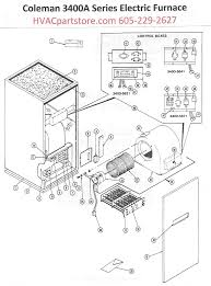 3400a816 coleman electric furnace parts hvacpartstore click here to view an installation manual which includes wiring diagrams