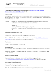 Citing In Text Journal Article General Format Newspapermagazine