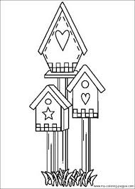 Small Picture bird houses to color Birdhouse Coloring Pages 017 Embroidery