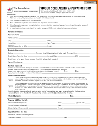 Resume For College Scholarships Template Best Of 10 Blank