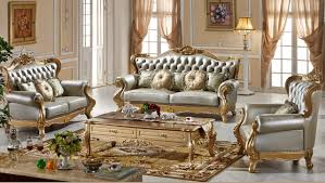 high style furniture. High Quality Comfortable Classic Leather Sofa European Style Furniture In Home 0409