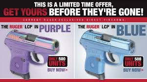 limited edition purple and blue lcp pocket pistols photo ruger
