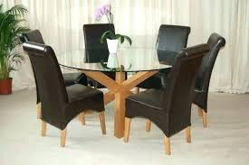 canterbury extending dining table 6 chairs solid oak and leather argos seat kitchen room black glass