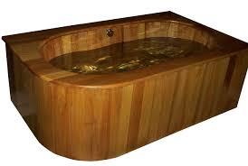 Wooden Bathtub Beautiful Unique Wooden Bathtub Designs Orchidlagooncom