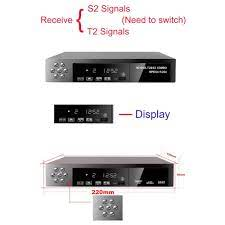Montage VT6000 Smart Digital Satellite TV Box Receiver 1080P DVB-T2 + DVB-S2  - Black - JakartaNotebook.com