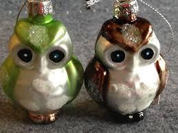 Hoff Weihnachtsschmuck Glas Eule 2er Set Grün Braun 251698075499