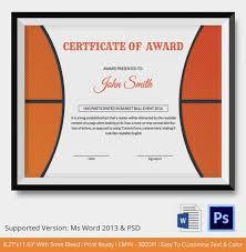 Basketball Award Certificate Template Free Basketball Pinterest
