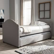 upholstered daybed with trundle. Perfect Trundle Baxton Studio Kleisthenes Modern Upholstered Daybed With Guest Trundle Bed Throughout With P