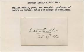 matthew arnold signature s autographs  matthew arnold signature s 02 27 1884 hfsid 323248