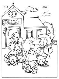 Kleurplaat Kinderen Gaan Weer Naar School Kleurplatennl