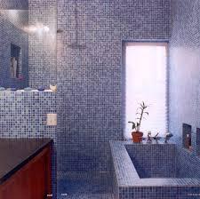round bubble blue mosaic glass tiles for unique bathroom design