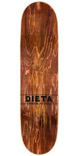 wood grain logo. dieta woodgrain logo skateboard deck - red 8.5\ wood grain