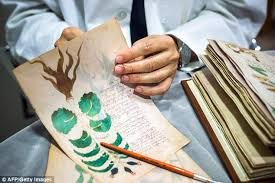 the centuries old voynich mcript which dates back to the middle ages was