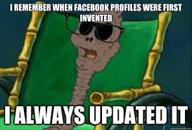 chocolate spongebob lady. Simple Chocolate I Remember When Facebook Profiles Were First Invented Always Updated It SpongeBob  Chocolate Hipster Old Inside Spongebob Lady E