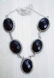 chain stone jewelry necklace jewellery jewel silver handmade style amethyst gem crystal setting gemstone onyx quartz