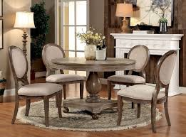 Oak Round Dining Table And Chairs Rustic Oak Round Table Set