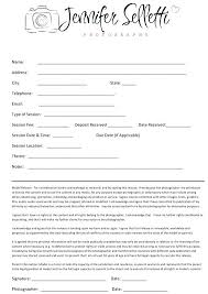 Wedding Photography Contract Form Family Photography Contract Template