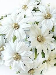 Daisy Paper Flower Nava Chiangmai 25 Pcs White Daisy Mulberry Paper Flowers Daisy Wedding White Paper Flowers Floral Crown Flowers Headband Flowers Floral Headband