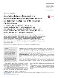 Association Between Treatment At A High Volume Facility And