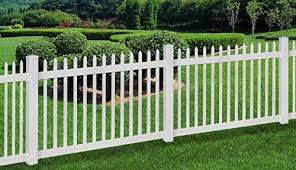 WamBam No Dig Nantucket Vinyl Picket Fence with Post and No Dig