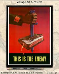 "World War II US Propaganda Poster WW2 8.5""<b>x11</b>"" <b>Mini</b> Print He's ..."