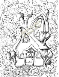 Zuma coloring page for kids and adults from cartoon series coloring pages, paw patrol coloring pages. Fairy Houses And Fairy Doors Vol 3 And 4 Individual Coloring Etsy