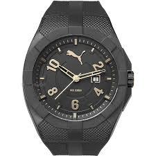 men s puma pu10350 iconic black gold watch pu103501011 watch mens puma pu10350 iconic black gold watch pu103501011