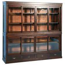 bookcases antique oak bookcase with glass doors or cabinet sliding mission doo